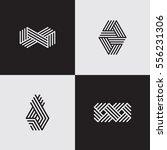 modern line logos. cool... | Shutterstock .eps vector #556231306