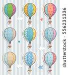set of balloons. paper sticker.   Shutterstock .eps vector #556231336