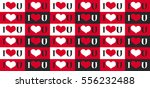 seamless pattern with heart and ... | Shutterstock .eps vector #556232488