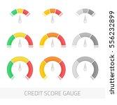 credit score indicators and... | Shutterstock .eps vector #556232899