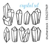 set of vector magic crystals....