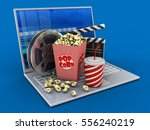 3d illustration of laptop over... | Shutterstock . vector #556240219