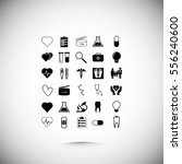 medical icons set  vector best... | Shutterstock .eps vector #556240600