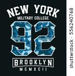 college new york  brooklyn... | Shutterstock .eps vector #556240768