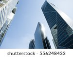 skyscrapers with glass facade.... | Shutterstock . vector #556248433