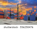 industrial container yard with...   Shutterstock . vector #556250476