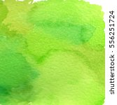 Watercolor Green Background...