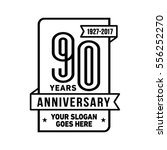 90th anniversary logo. vector...   Shutterstock .eps vector #556252270