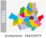 colorful seoul administrative... | Shutterstock .eps vector #556253479