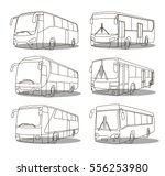 bus icons set | Shutterstock .eps vector #556253980