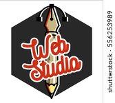 clolor vintage web studio emblem | Shutterstock .eps vector #556253989