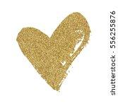 vector gold glitter heart | Shutterstock .eps vector #556255876