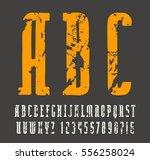 narrow slab serif font in the... | Shutterstock .eps vector #556258024