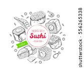 vector hand drawn label for... | Shutterstock .eps vector #556265338