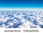 Blue Sky And Cloud Top View...