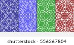 set of floral ornament.... | Shutterstock .eps vector #556267804