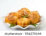 marijuana cupcake muffins and... | Shutterstock . vector #556270144