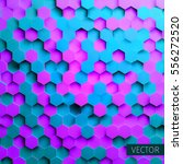 hexagonal vector background.... | Shutterstock .eps vector #556272520