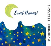 sweet dreams card template.... | Shutterstock .eps vector #556273243