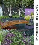 an modern show garden with an... | Shutterstock . vector #556273768