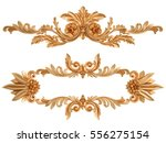 gold ornament on a white... | Shutterstock . vector #556275154