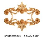gold ornament on a white... | Shutterstock . vector #556275184