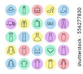 vector icons set of  women's... | Shutterstock .eps vector #556277830