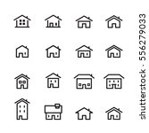 house line icon set | Shutterstock .eps vector #556279033