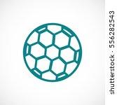 soccer ball icon  vector best... | Shutterstock .eps vector #556282543