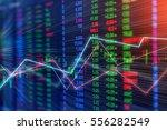 financial business graph chart... | Shutterstock . vector #556282549