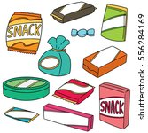 vector set of snack | Shutterstock .eps vector #556284169