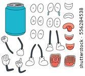 vector set of can cartoon | Shutterstock .eps vector #556284538