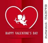 happy valentines day... | Shutterstock .eps vector #556287958