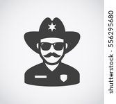 sheriff icon. mustachioed... | Shutterstock .eps vector #556295680