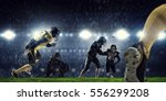 american football players at... | Shutterstock . vector #556299208