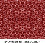 decorative floral lace ornament.... | Shutterstock .eps vector #556302874
