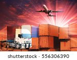 container for freight and cargo ... | Shutterstock . vector #556306390