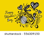 happy valentine's day  | Shutterstock .eps vector #556309150