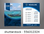 blue vector annual report... | Shutterstock .eps vector #556312324