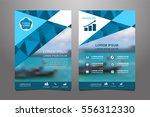blue vector annual report... | Shutterstock .eps vector #556312330
