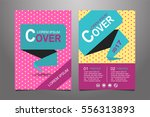 green ad pink vector annual... | Shutterstock .eps vector #556313893