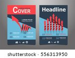 red and blue vector annual... | Shutterstock .eps vector #556313950