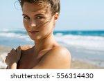 portrait of beautiful woman on... | Shutterstock . vector #556314430