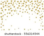 cute pattern with gold hearts...   Shutterstock .eps vector #556314544