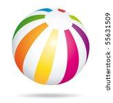 beach ball bouncing lll. vector ... | Shutterstock .eps vector #55631509
