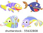 illustration of a fish on a...   Shutterstock . vector #55632808