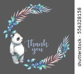illustration  wreath with... | Shutterstock . vector #556328158