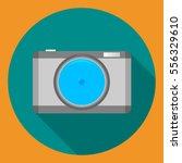 flat vector camera icon | Shutterstock .eps vector #556329610