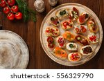 crostini with different... | Shutterstock . vector #556329790