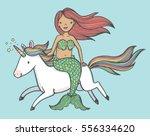 cute cartoon drawing of a... | Shutterstock .eps vector #556334620